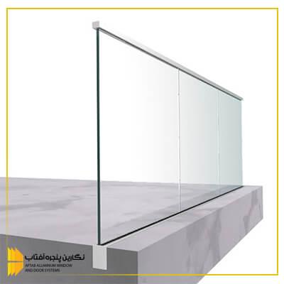 انواع نرده شیشه ای