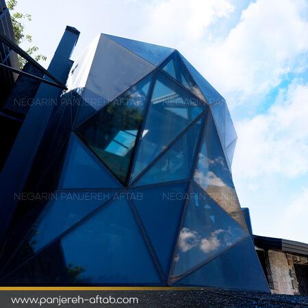 نورگیر سقف شیشه ای