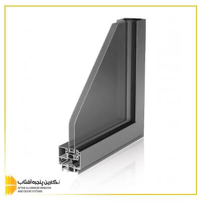 قیمت پنجره آلومینیومی لولایی آساش rwt 67